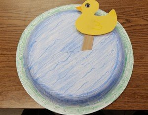 How To Make A Duck Swimming In The Water Spring Craft For Kids