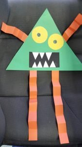 How To Make A Shape Monster Halloween Craft For Kids