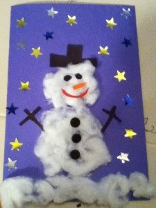 How To Make A Snowman Christmas Card For Kids Kids Play