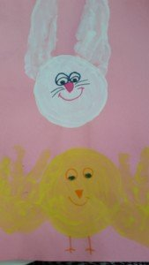 Cute Handprint Footprint Easter Bunny And Chick Toddler Craft