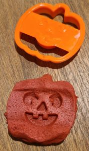 pumpkin made out of play-doh