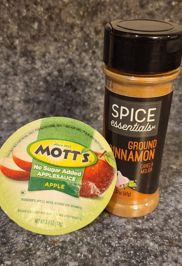 Motts Applesauce and Ground Cinnamon