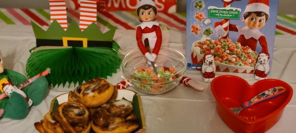 Elf on the shelf breakfast