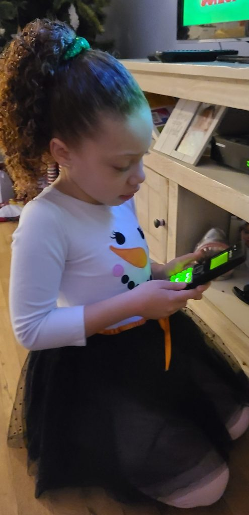 little girl calling santa