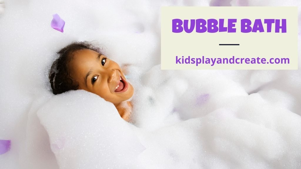 Little girl bubble bath