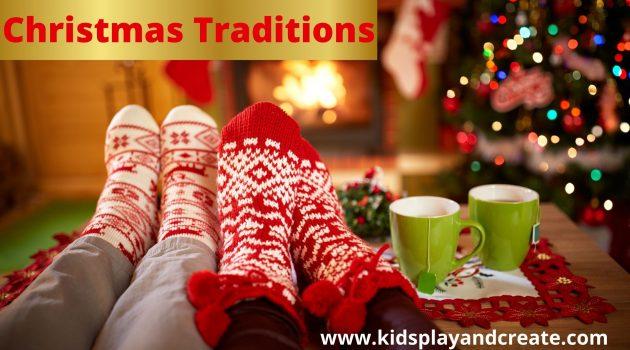 Matching Christmas Socks under Christmas  tree
