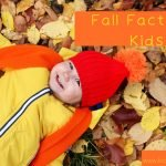 child laying in the leaves
