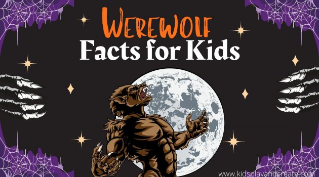 Werewolf in front of a moon