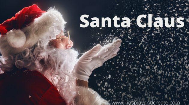 Santa Claus blowing magic snow