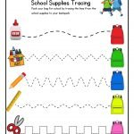 school supplies tracing